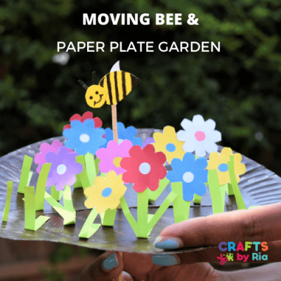 moving bee and paper plate garden-featured image