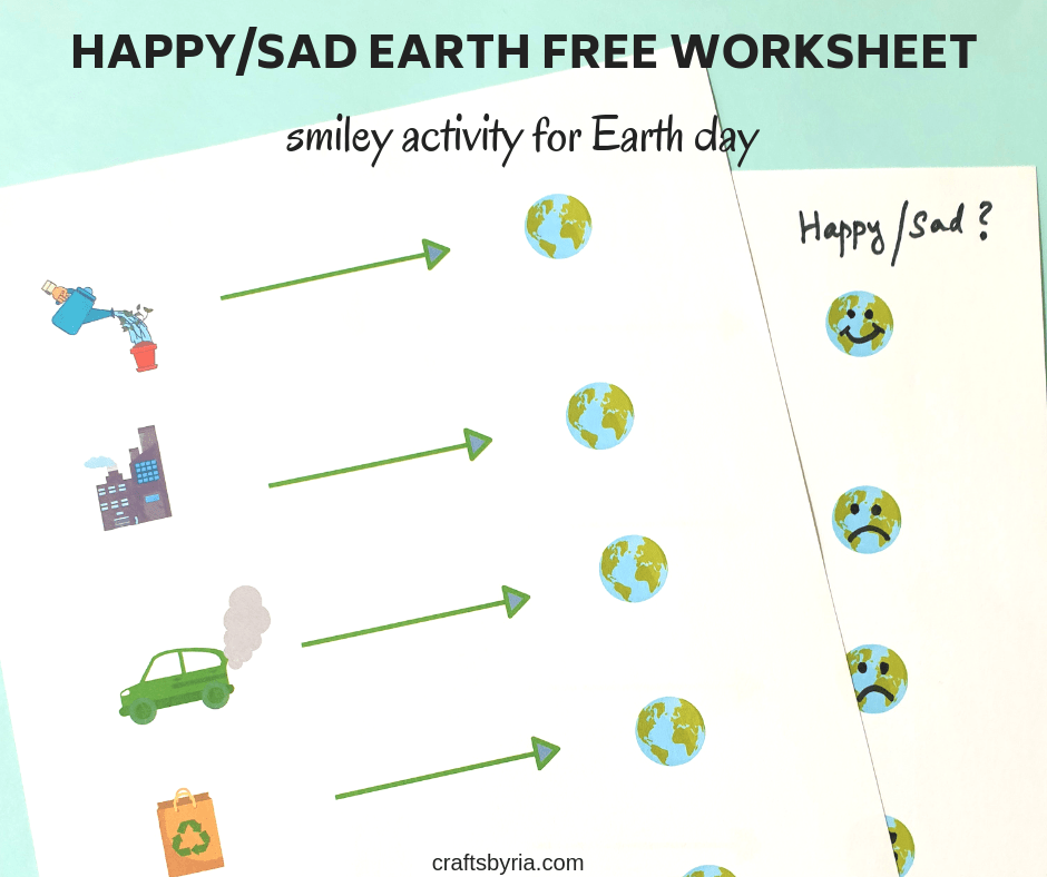 earth day worksheet-emotions activity-FB