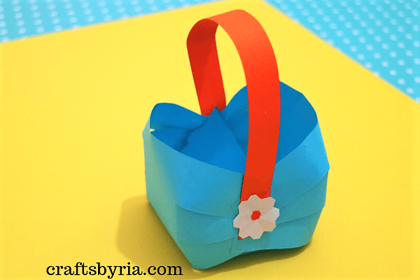 easter paper basket-Easy easter crafts for kids