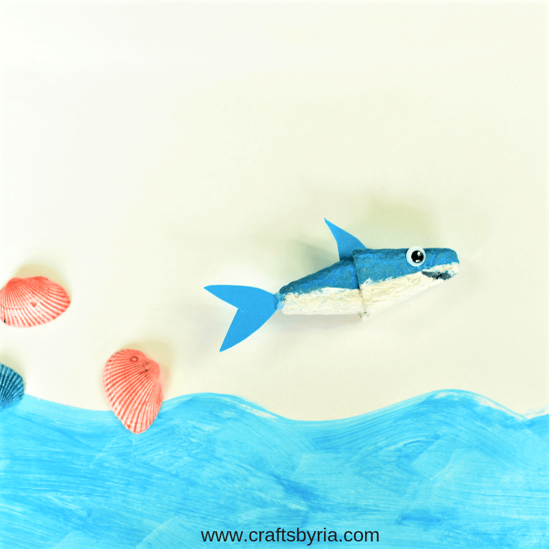 egg carton shark craft-fb