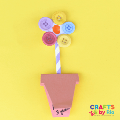 fingerprint flower card with buttons-featured image-500x500