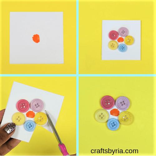 fingerprint flower card-step1