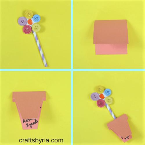 fingerprint flower card-step2