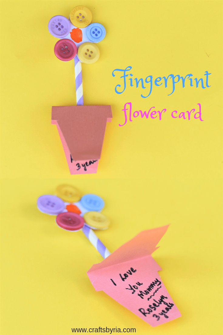 fingerprint flower card with buttons-pin1