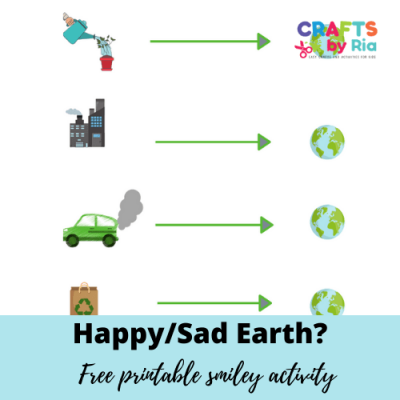 happy sad earth smiley free worksheet ativity for earth day-featured image