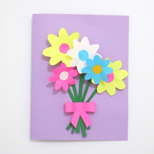 mothers day cards for kids-flower card