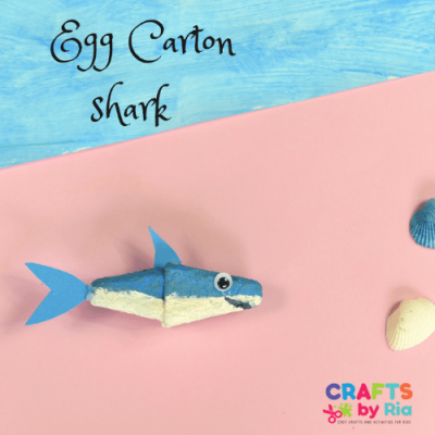 shark craft from recycled egg carton-featured image