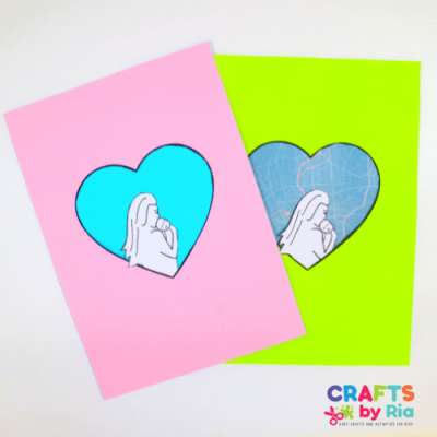 Adorable silhouette Mothers day craft for kids-free printables-featured image