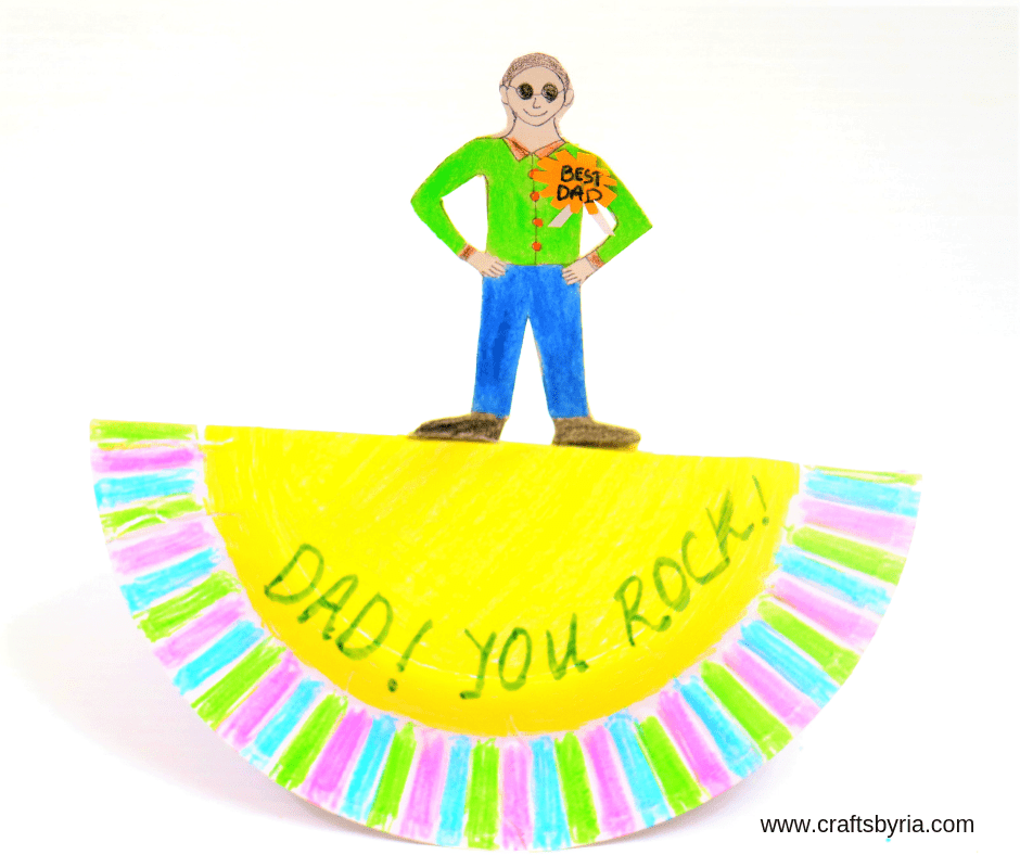 dad you rock easy fathers day craft for kindergarten-fb