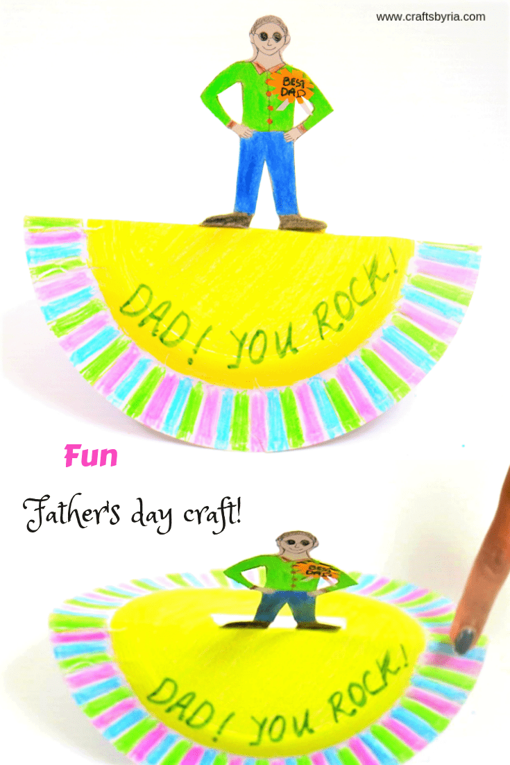 dad you rock easy fathers day craft for kindergarten-pin1