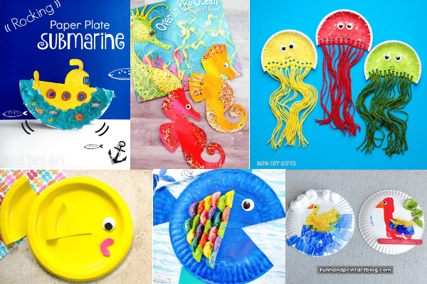 easy paper plate crafts for kids-5