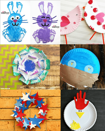 easy paper plate crafts for kids-6