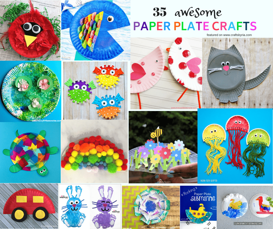 easy paper plate crafts for kids-fb