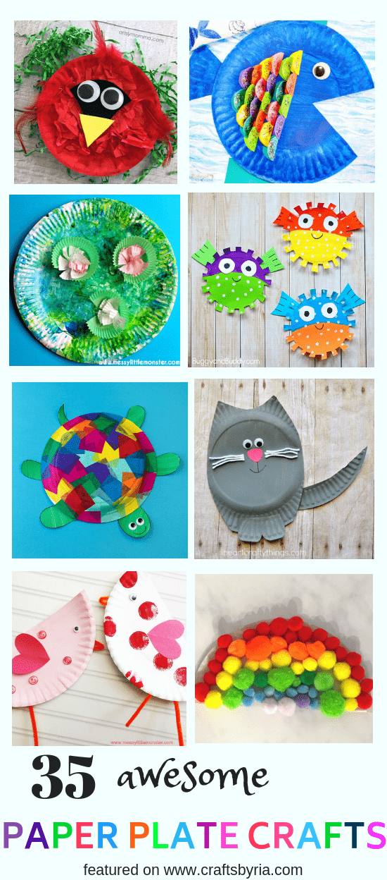 easy paper plate crafts for kids-pin1