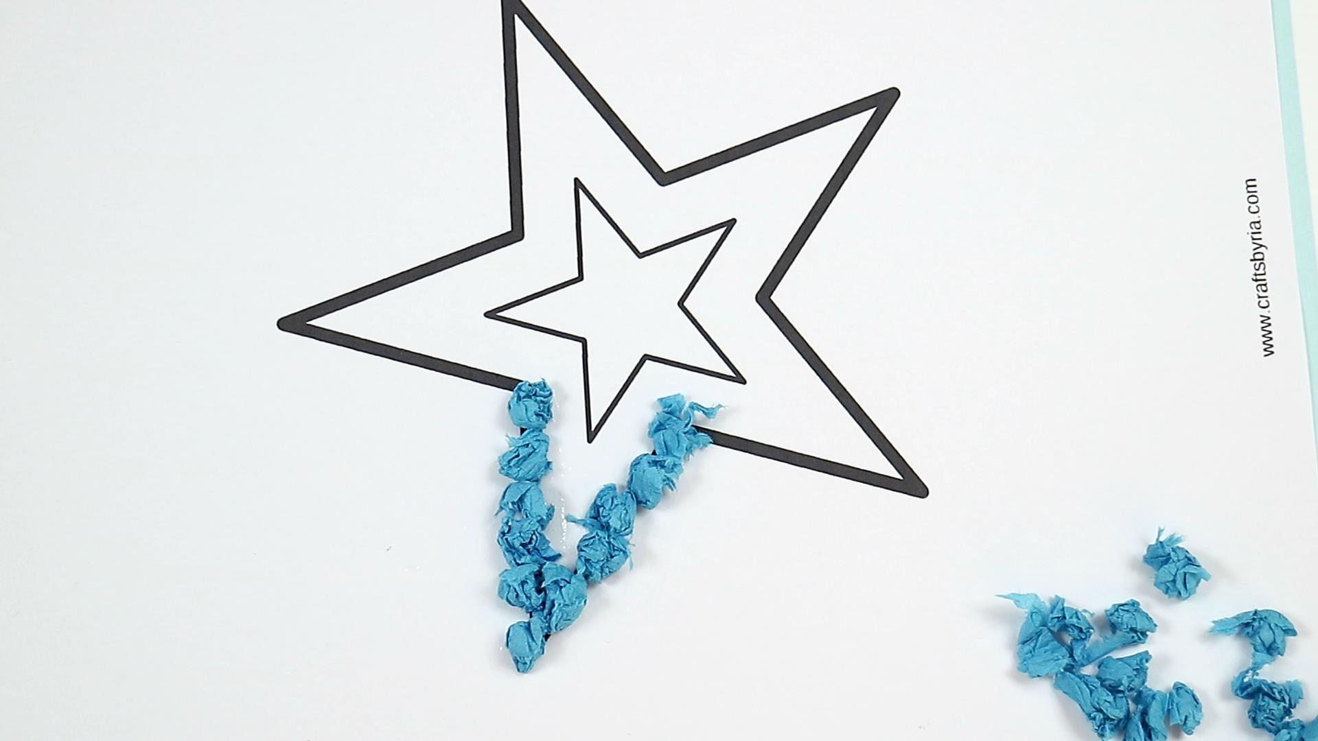 4th of july easy craft for kids-step3
