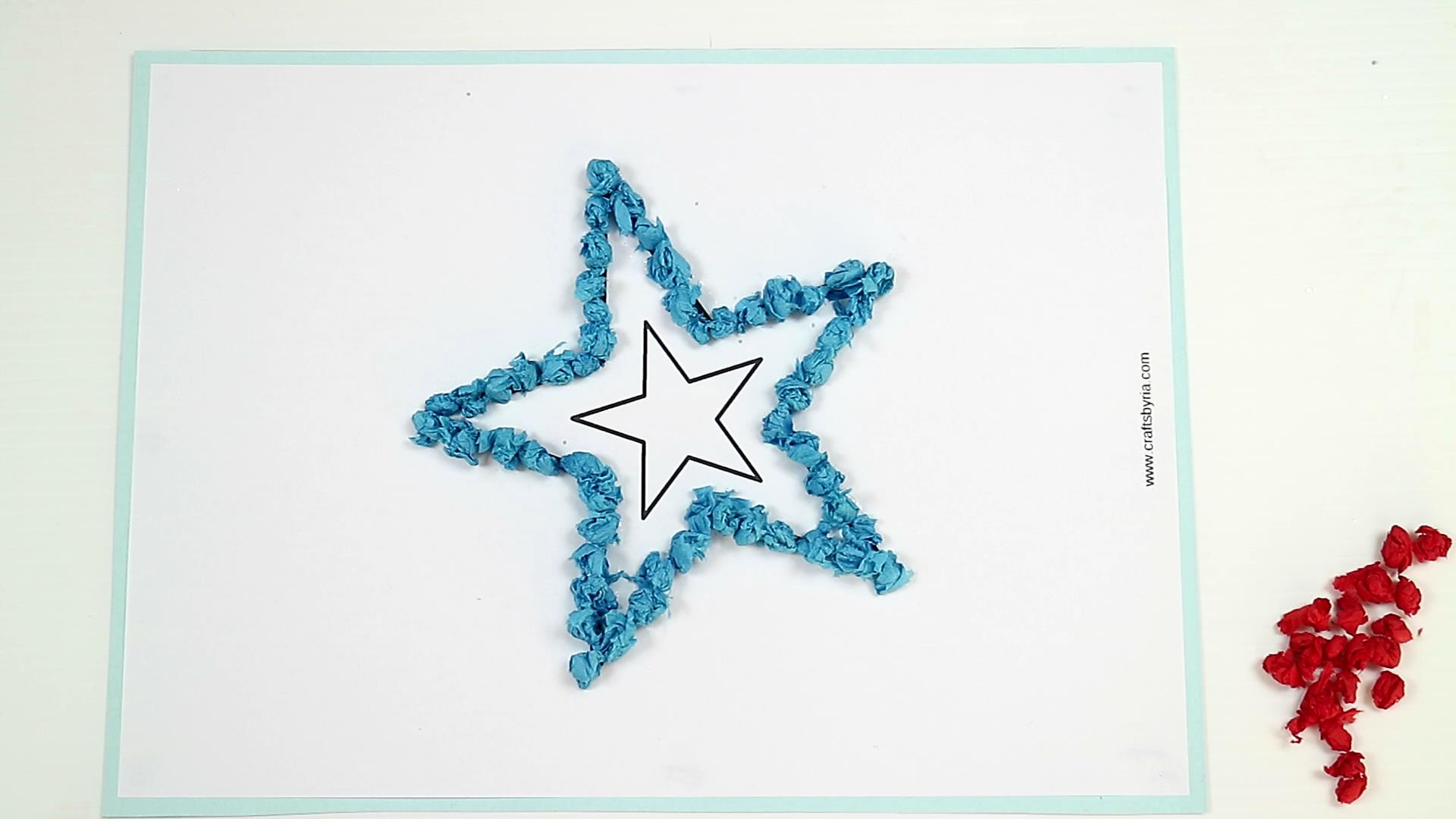 4th of july easy craft for kids-step4