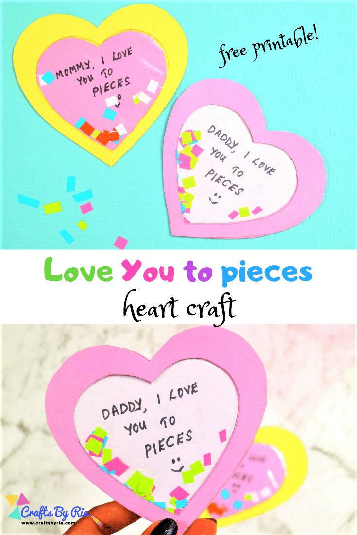 I love you to pieces craft-pin1