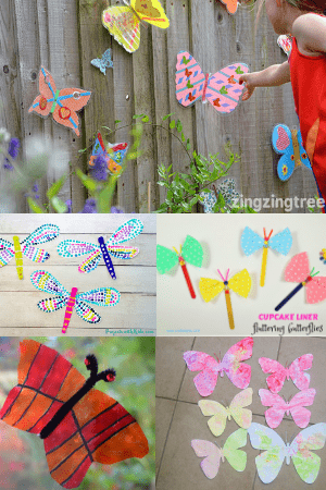 butterfly crafts-easy summer crafts for kids