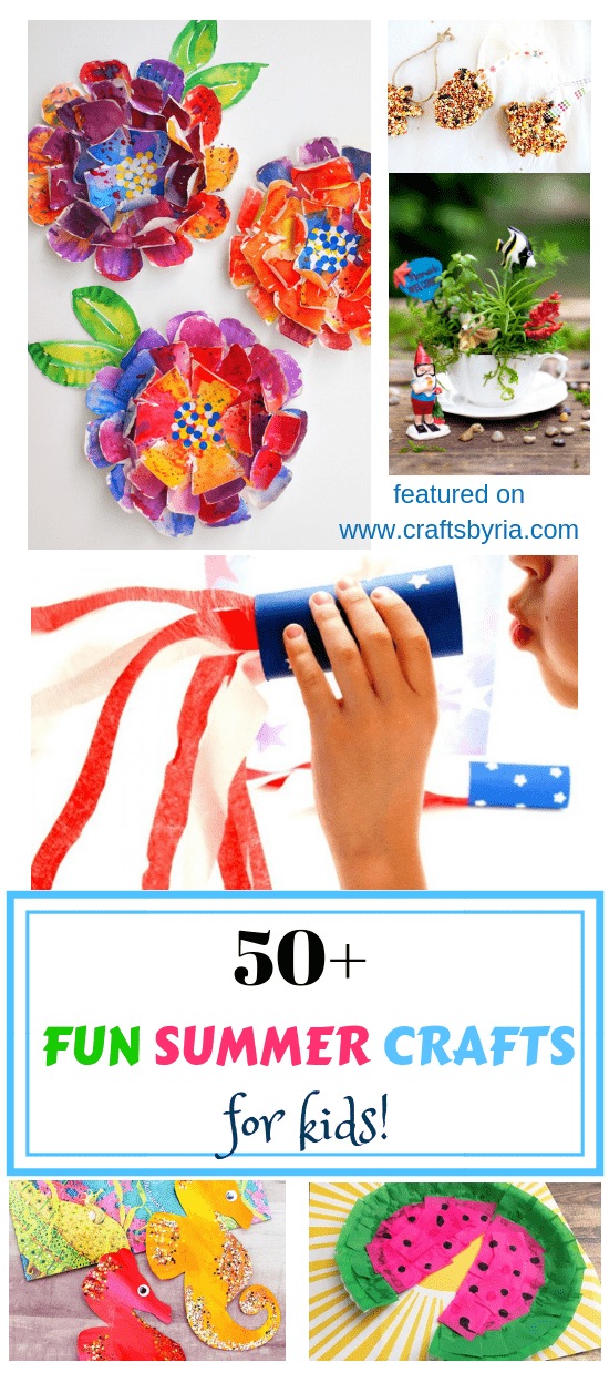 easy summer crafts for kids-pin1