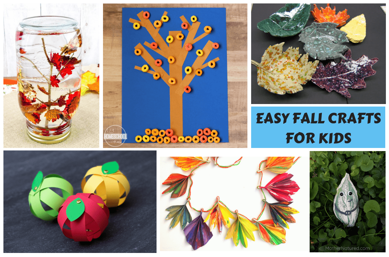 40 Easy Fall crafts for kids