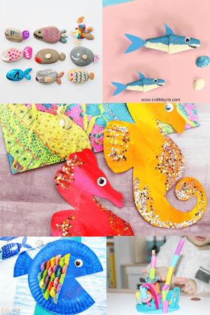 ocean crafts-easy summer crafts for kids