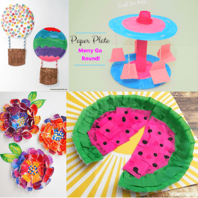paper plate crafts-easy summer crafts for kids