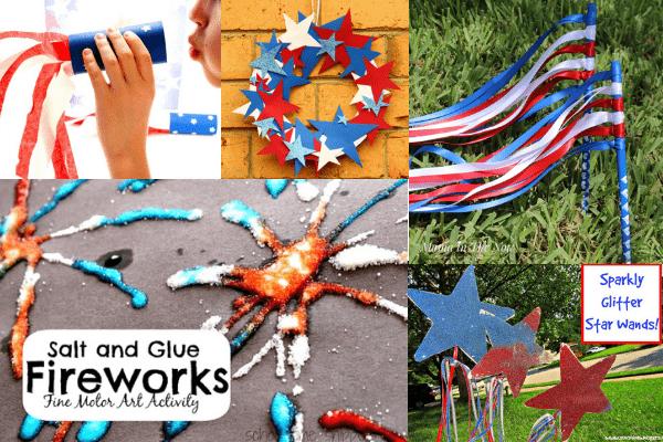 patriotic crafts-easy summer crafts for kids