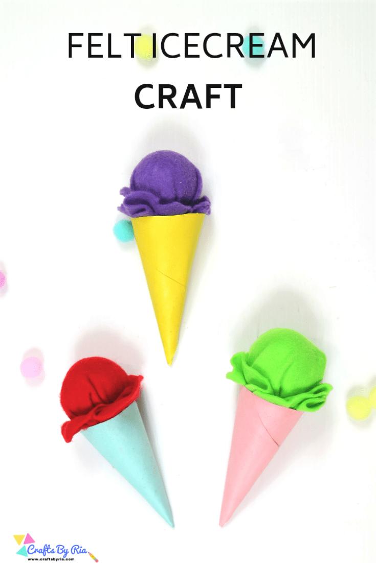 felt icecream cone craft-pin1
