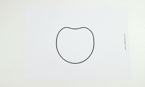 paper apple craft-step1