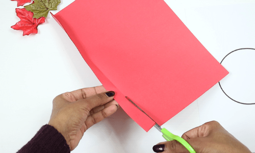 paper apple craft-step2