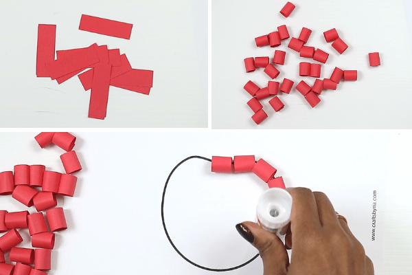 paper apple craft-step5