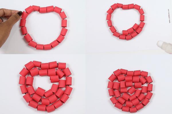 paper apple craft-step6