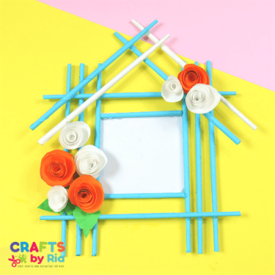 paper photoframe craft for kids-featured image
