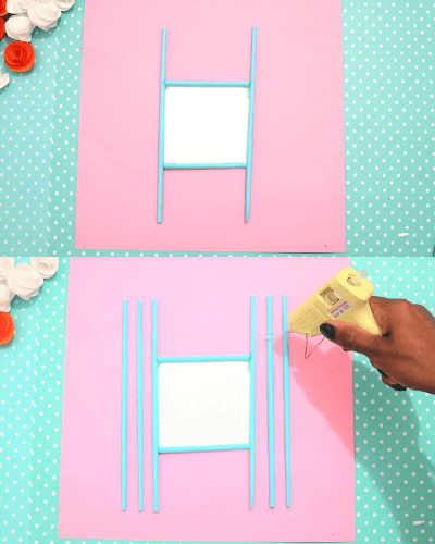 photo frame craft for kids-step7