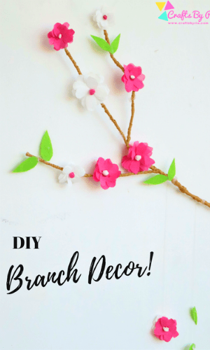 summer crafts for tweens-diy branch decor