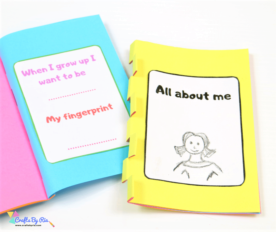 All about me mini book-fb