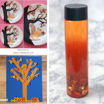 40 easy fall crafts for kids-featured image