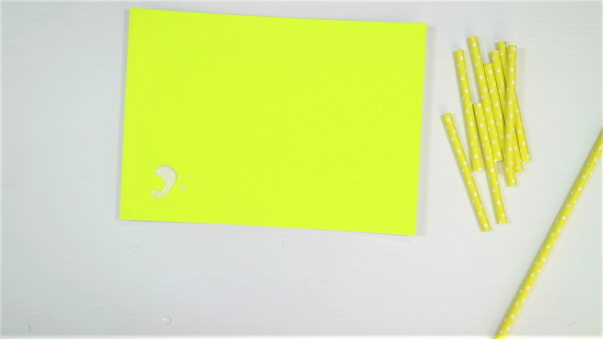 easy monster craft for kids with paper straw-step3