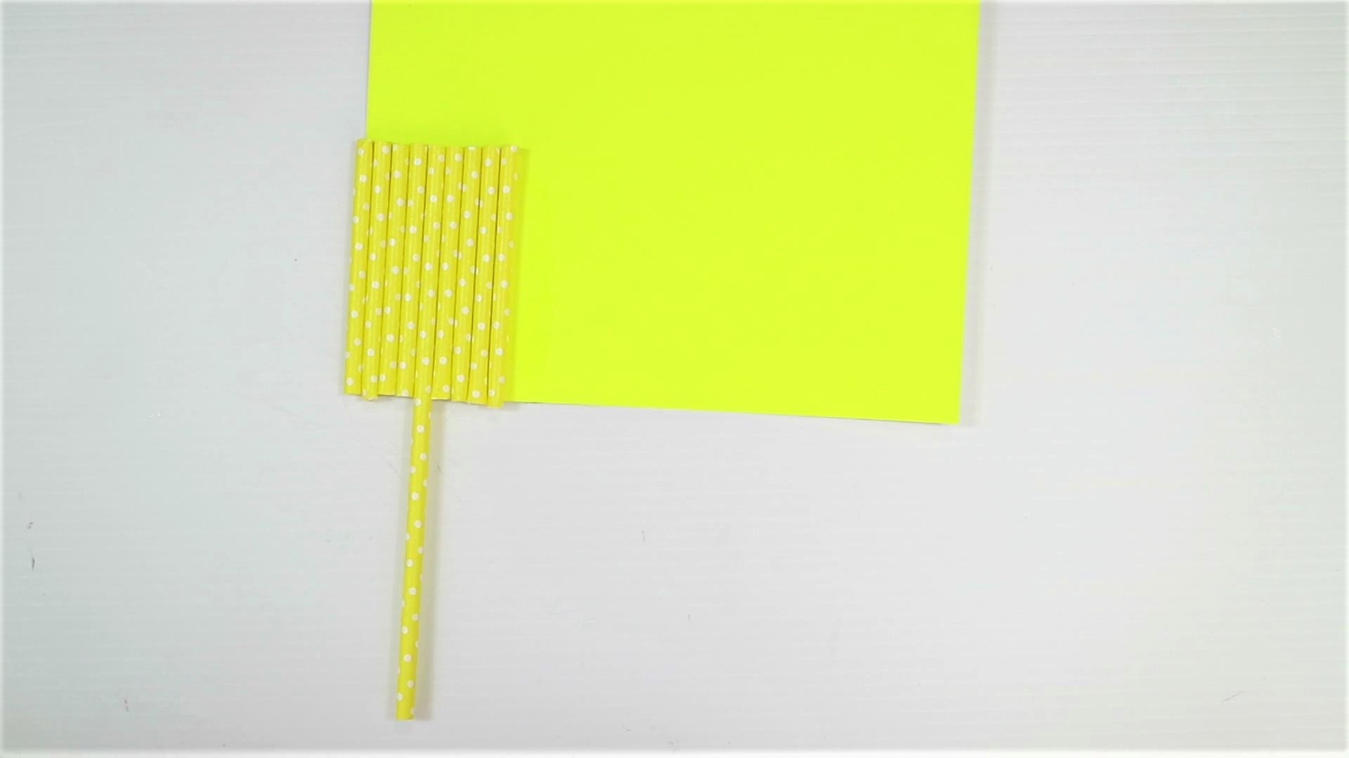 easy monster craft for kids with paper straw-step5