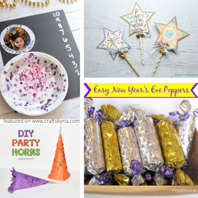 20 new years eve crafts for kids-featured image