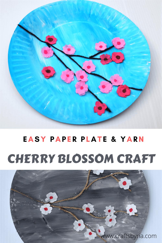 Cherry blossom art for kids image for Pinterest