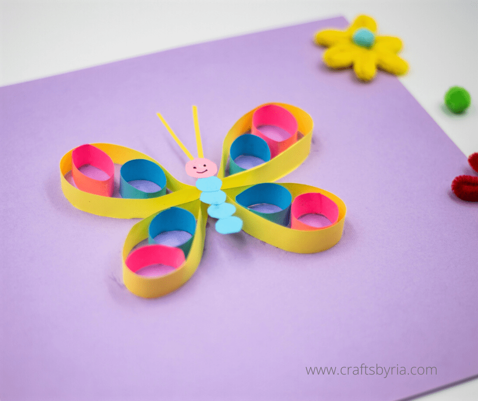 Paper butterfly craft-The final craft is ready to stick on walls