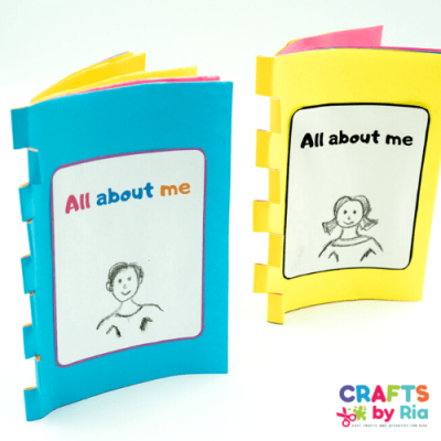 all about me printable book featured image