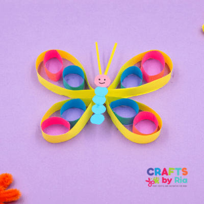 Easy paper butterfly craft for kids-featured image