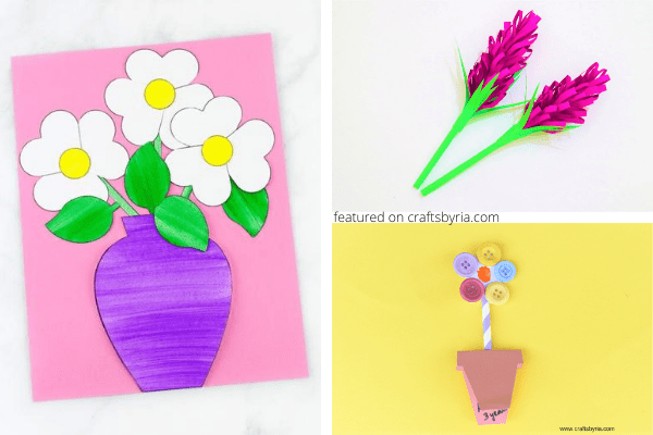 Flower crafts-thoughtful gifts for Grandma