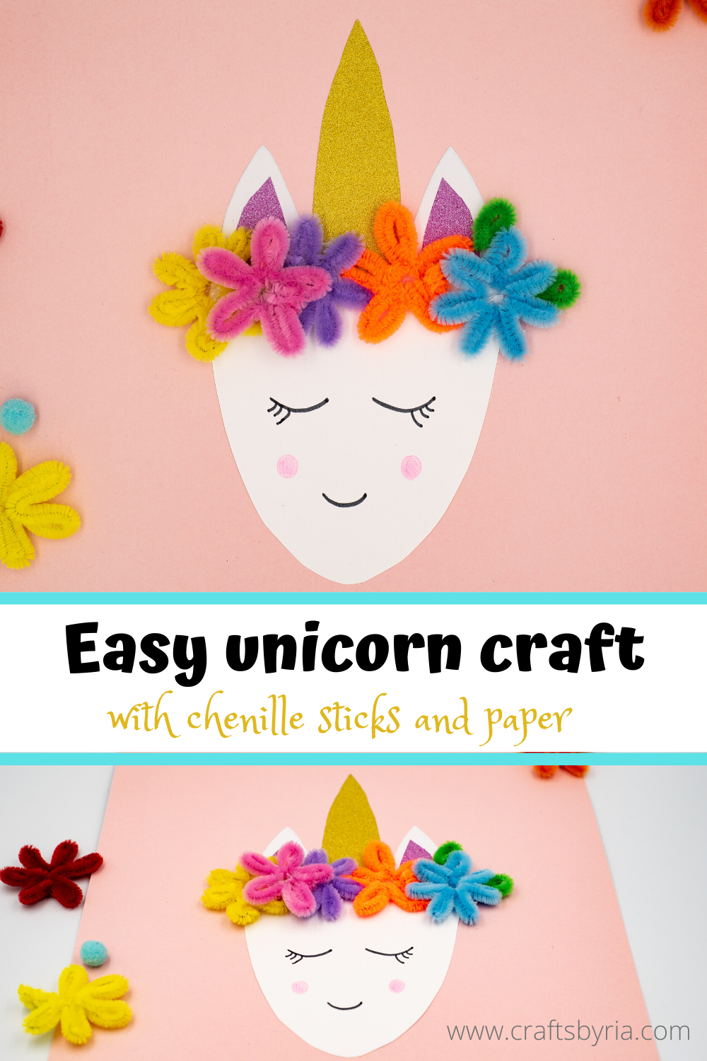 Easy unicorn craft for kids -pin