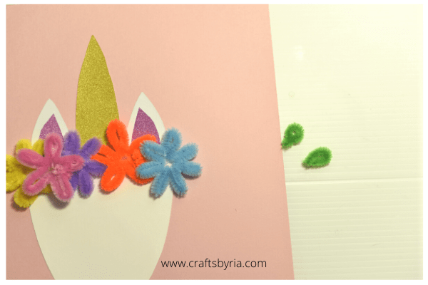 Easy unicorn craft for kids -step 4