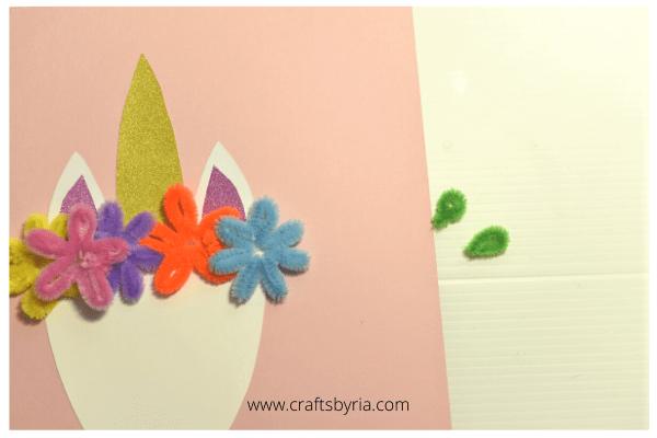 Easy unicorn craft for kids -step 4