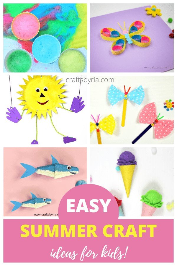 Summer crafts for kids-toddlers, preschool, elementary-pin1