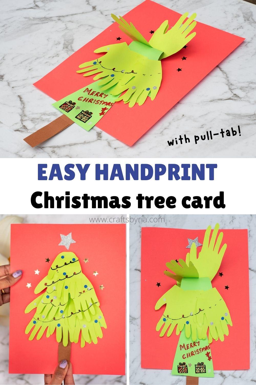 handprint Christmas tree card for kids-image for pinterest